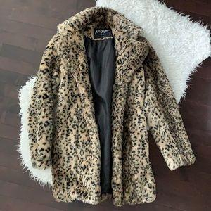 Nasty Gal Faux Fur Leopard Jacket